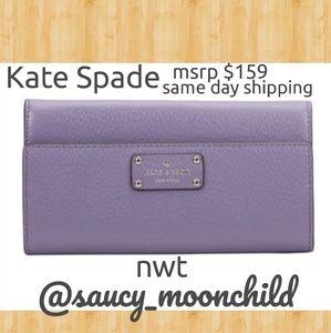 NWT 👜Kate Spade // lush lilac wallet leather
